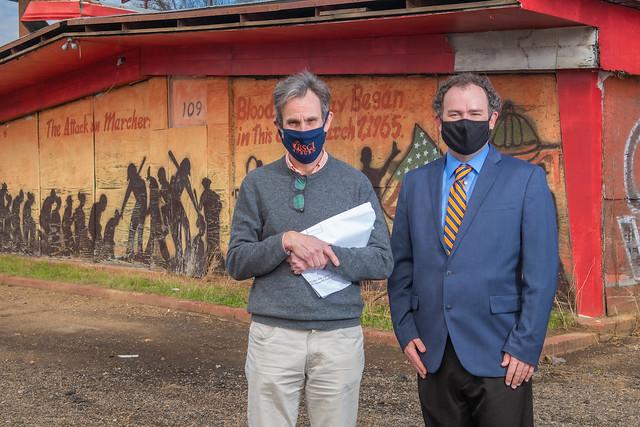 Auburn professors Richard Burt, left, and Keith Hebert