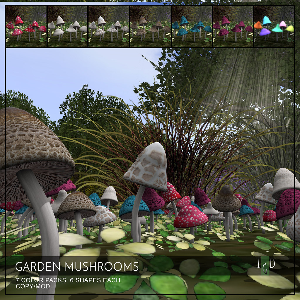 Garden Mushrooms L$50 this weekend only