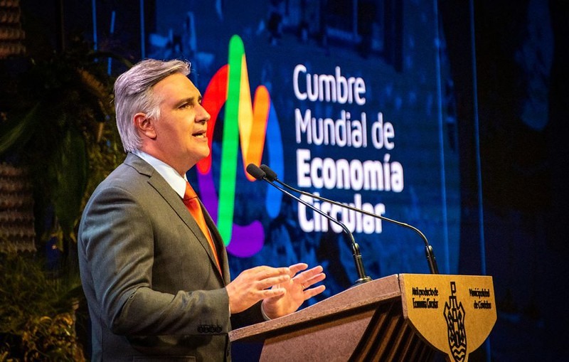 Apertura del intendente Martín Llaryora en la primera Cumbre Mundial de Economía Circular