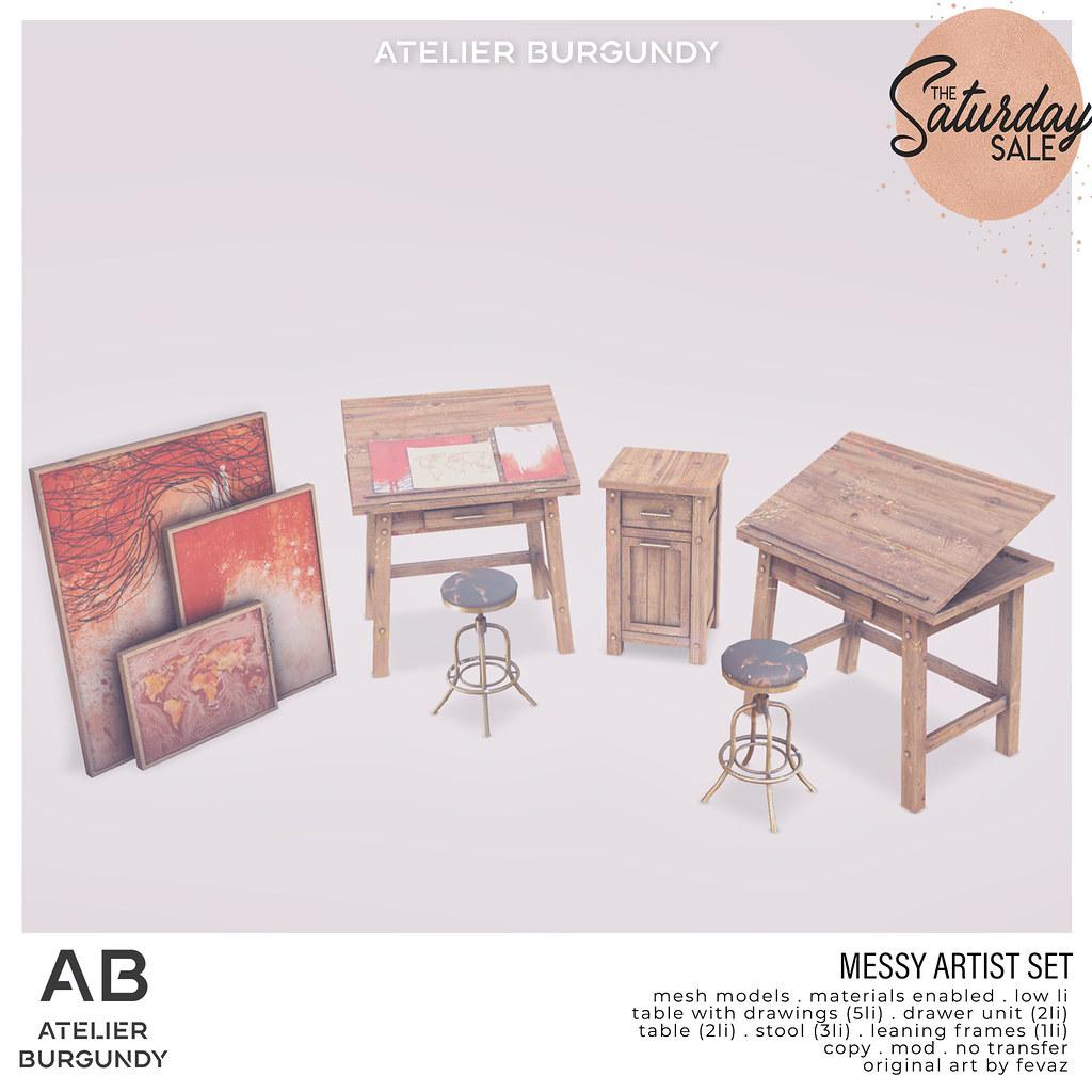 Atelier Burgundy . Messy Artist TSS