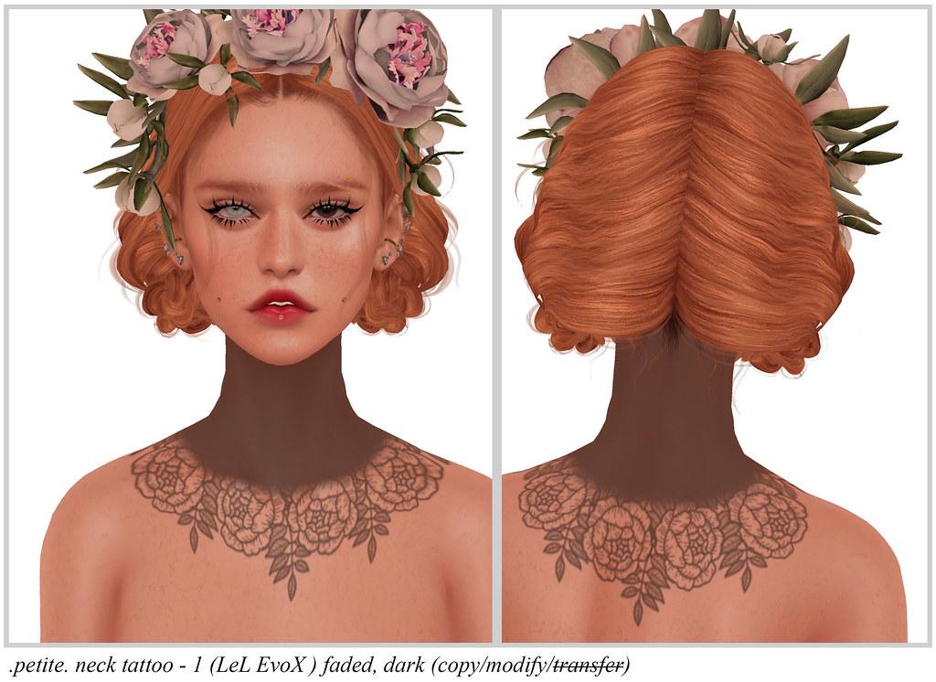 .petite. neck tattoo – 1 (LeL EvoX )