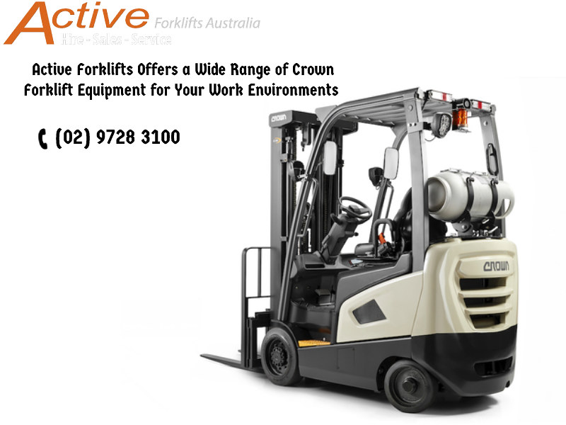 Active Forklifts Offers a Wide Range of Crown Forklift Equipment for Your Work Environments