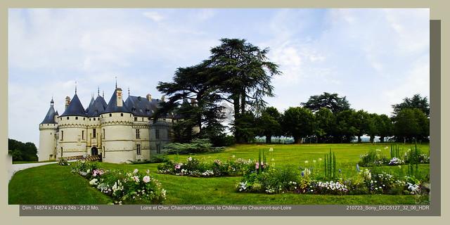 Loire et Cher, Chaumont-sur-Loire, le Château de Chaumont-sur-Loire