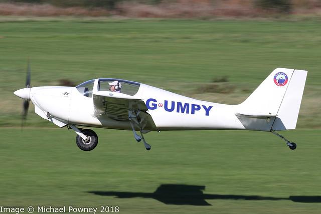 G-UMPY - 2012 build Europa Aviation Europa, departing from Runway 26L at Barton