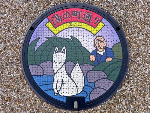 Yudaonsen Yamaguchi, manhole cover 25 (山口県山口市湯田温泉のマンホール25)