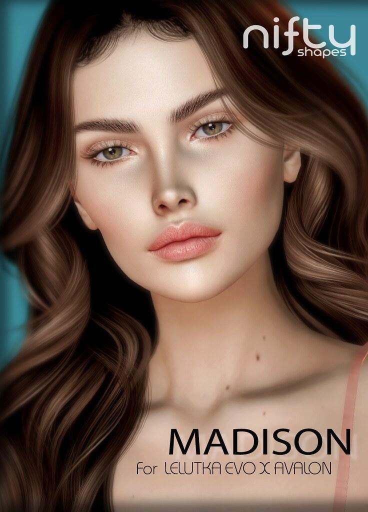 :NiFty: MADISON shape for Lelutka Evo X Avalon