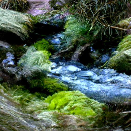 'a babbling brook' CLIP Guided Diffusion v4 Text-to-Image