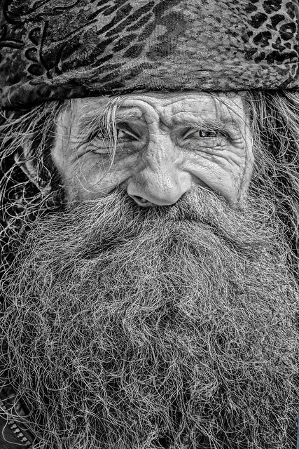 Highway to Hell - Street Portrait of Homeless man in Bath, Somerset