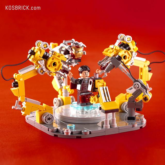 LEGO Iron Man Gantry - Hall of Armor (Tutorial)