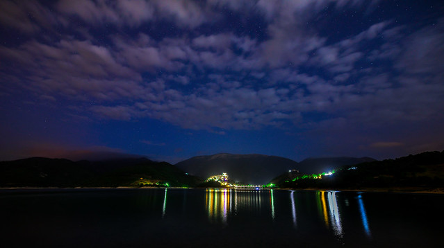... sul lago del turano by night ...