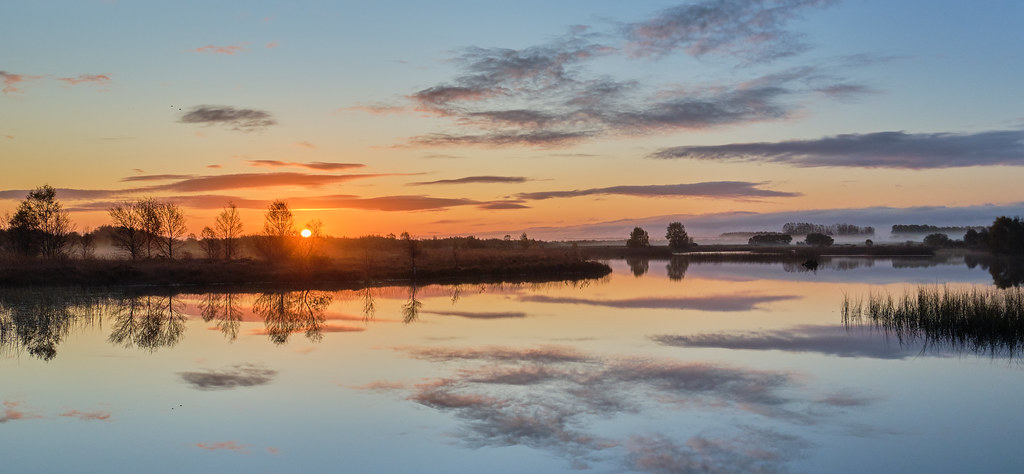 Sunrise on A Midland Lake.
