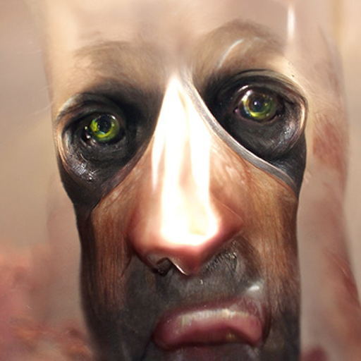 'a hyperrealistic painting of an android' CLIP Guided Diffusion v4 Text-to-Image