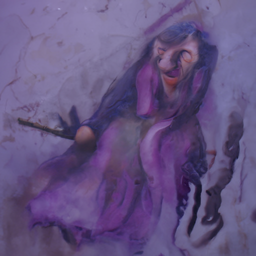 'a detailed painting of a witch' CLIP Guided Diffusion v4 Text-to-Image