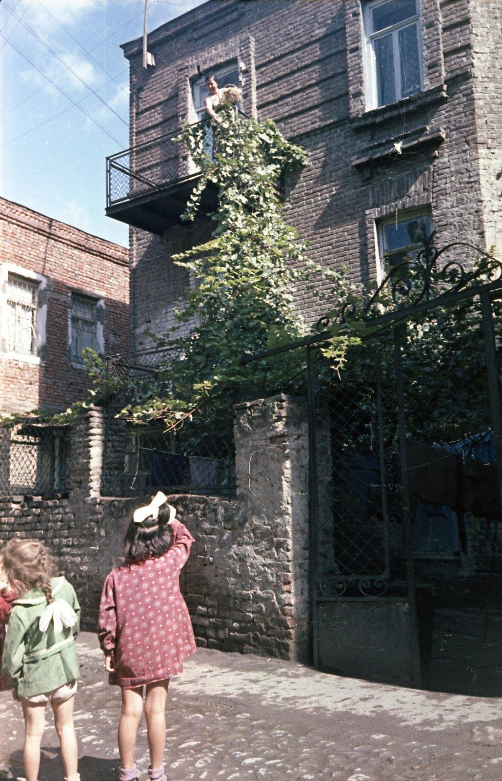 Тбилиси. Дети у дома. сентябрь-октябрь
