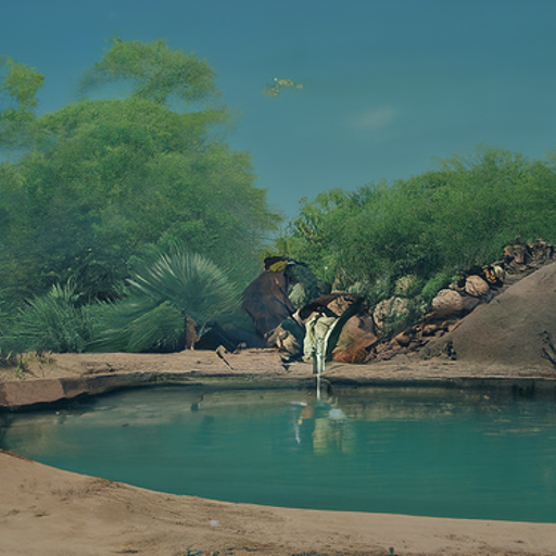 'a desert oasis' CLIP Guided Diffusion v4 Text-to-Image