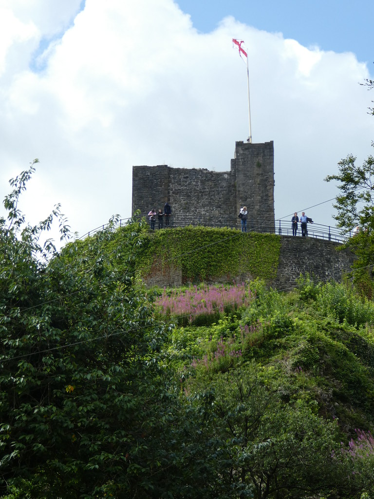 Clitheroe Castle and its viewing terrace