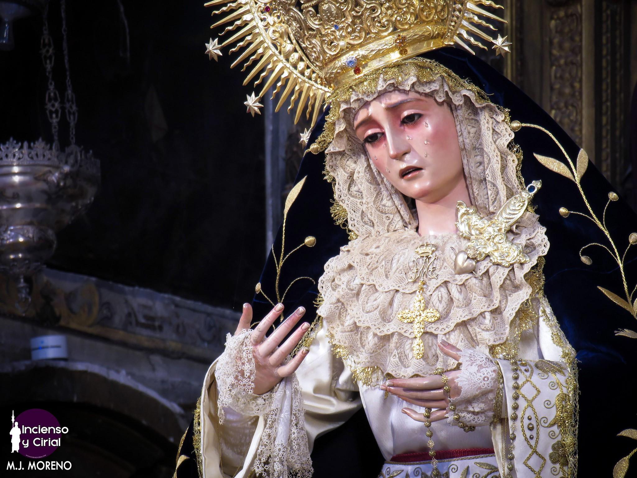 La Virgen del Subterráneo, para la festividad de la Realeza de María, en imágenes