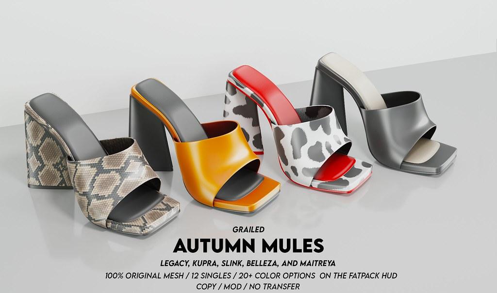 Autumn Mules