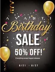 Birthday SALE @ Avanti!!