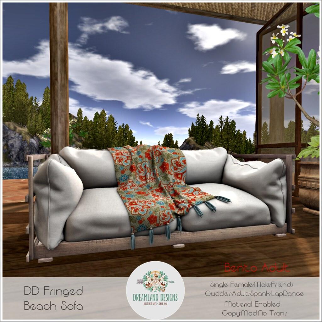 DD Fringed Beach Sofa ADULT