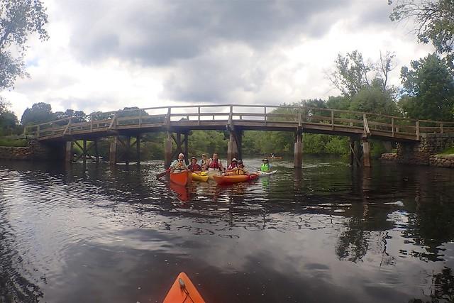 The crew at the Old North Bridge