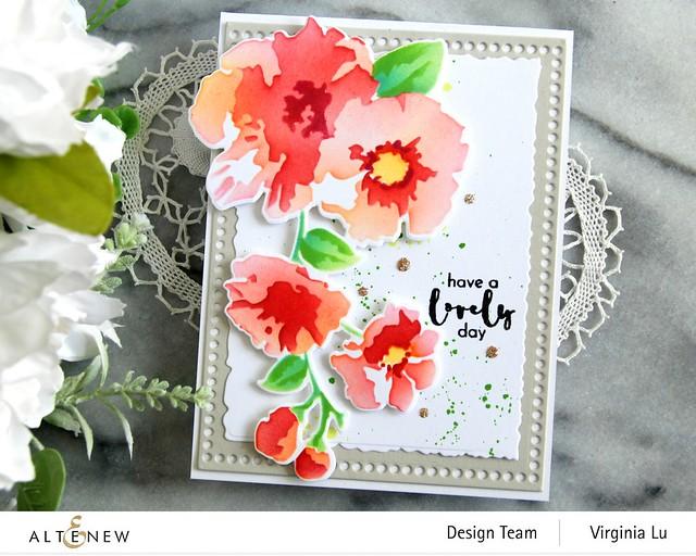 Altenew-Impressionist Bouquet Stencil Set-Impressionist Bouquet Die Set-Mix and Match Frames Die Set-001
