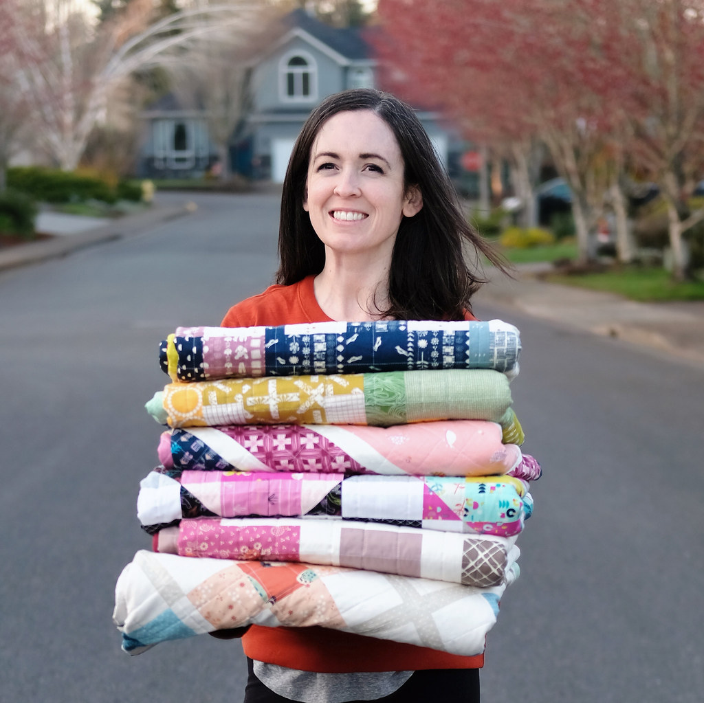 Erica with Quilts