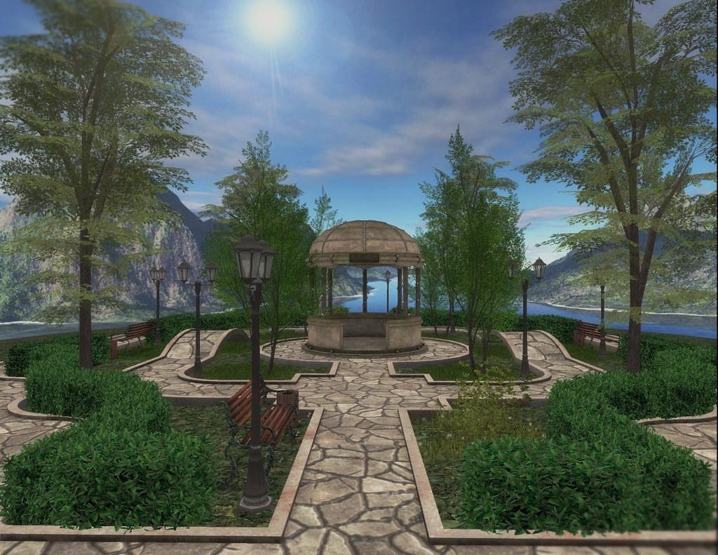 Lady's Garden – Park with gazebo (SUMMER)