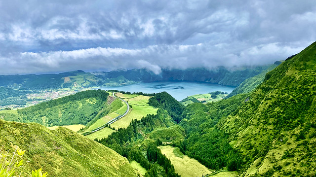 Green Azores - the volcanic craters of Sete Cidades