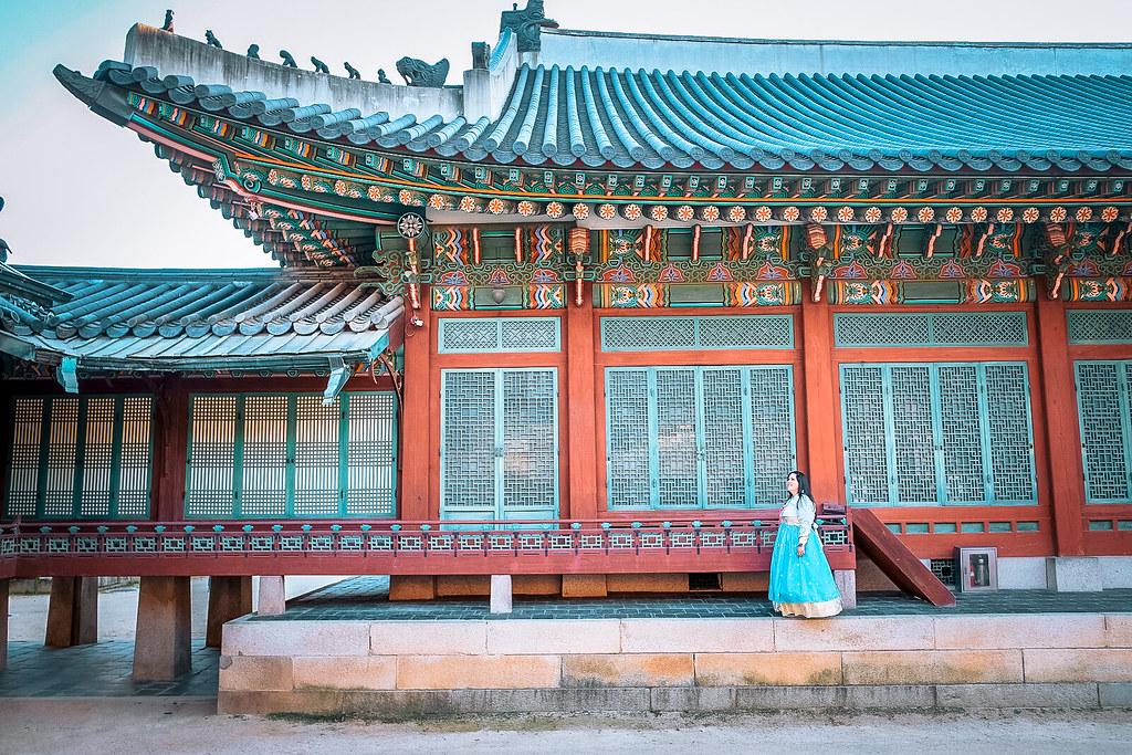 Changdeokgung Palace during Autumn in Korea