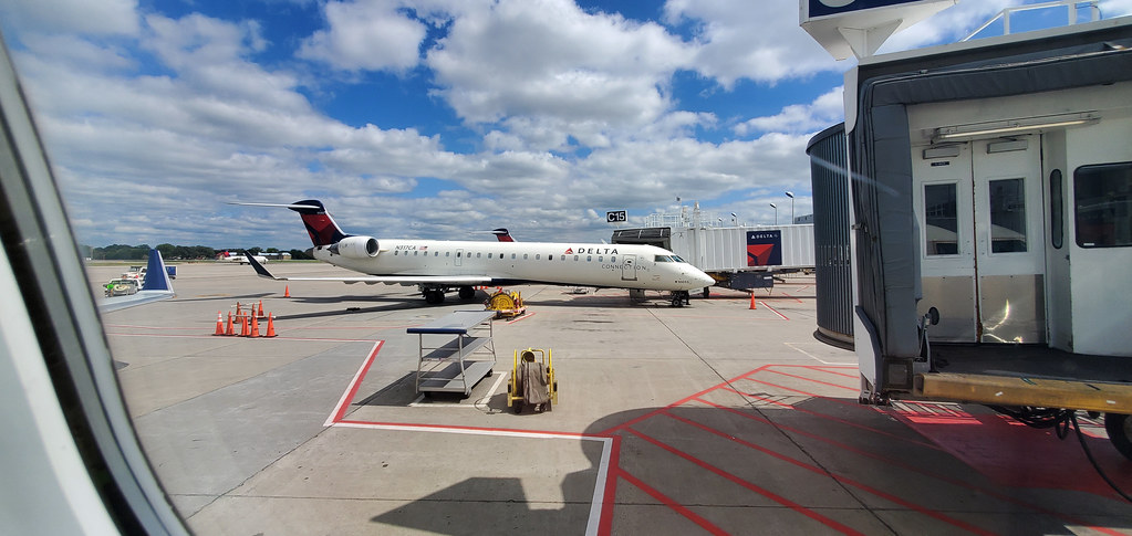 Awaiting departure from Minneapolis–St. Paul International Airport