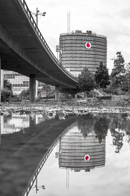 Vodafone reflected