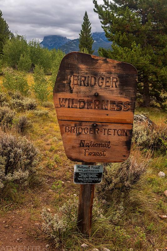 Bridger Wilderness Sign