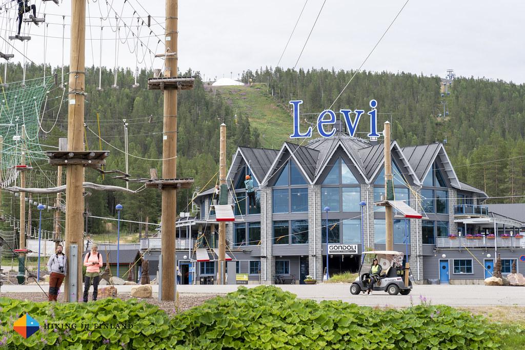 Sliding at Levi Adventure Park