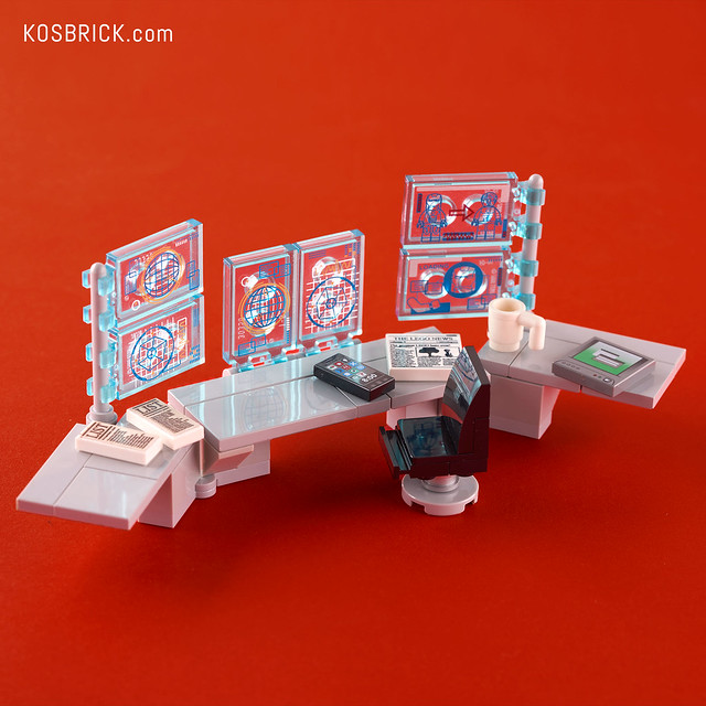 Lego Iron Man Work Desk - Hall of Armor (Tutorial)
