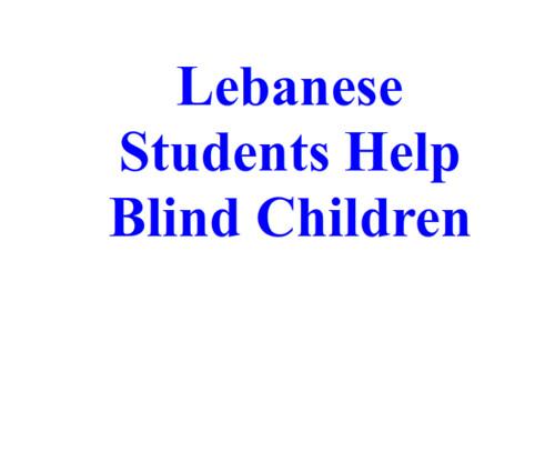 Lebanon-2008-11-14-Students Record Stories for Blind Children in Beirut