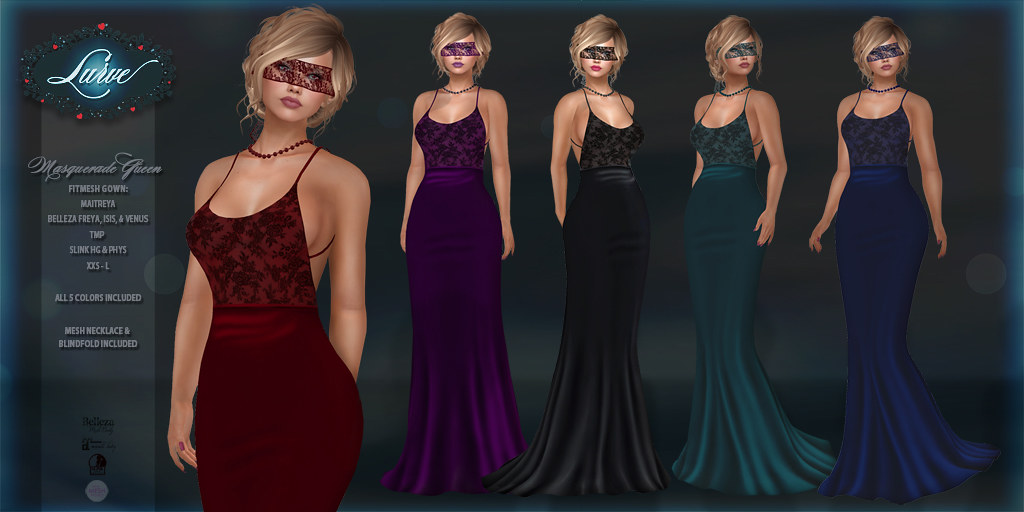 *Lurve* Masquerade Queen Gown Phat Pack
