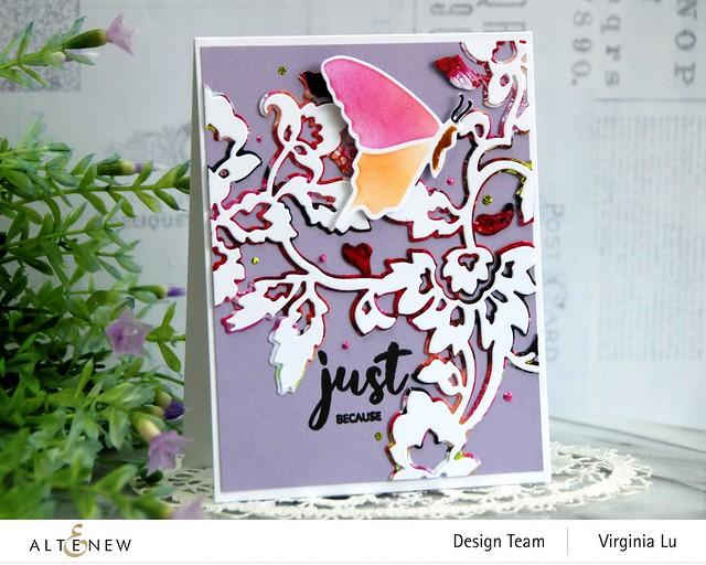 Altenew-Pattern Motif Die Set-Bountiful Butterflies Builder Stencil Set -Bountiful Butterflies Die Set