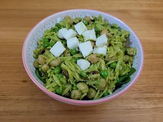 Three Pea & Orzo Pistachio Pesto Salad