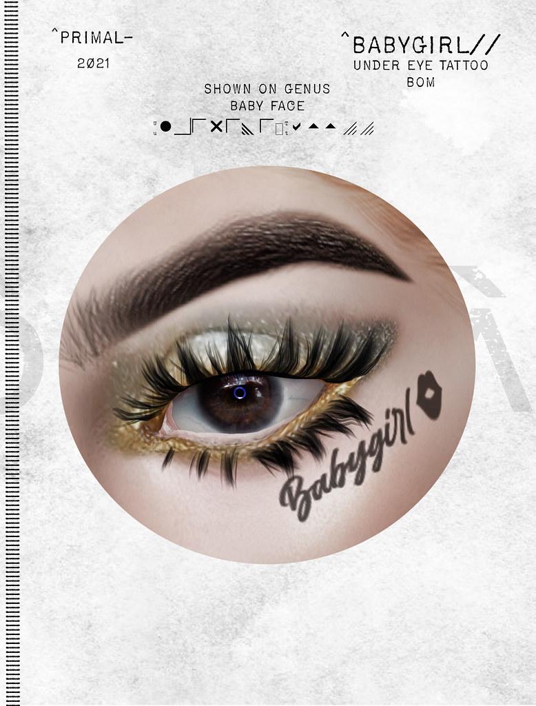 Babygirl Under Eye Tattoo BOM for Genus