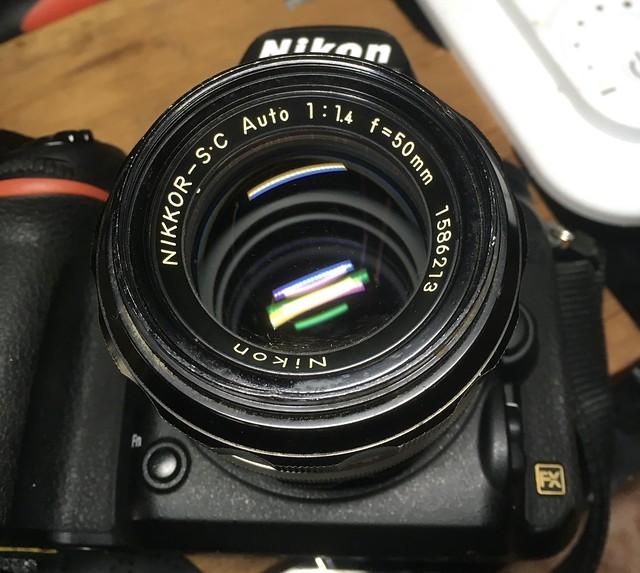 D750+NIKOOR S.C Auto 50mm F1.4 撮って出し!w
