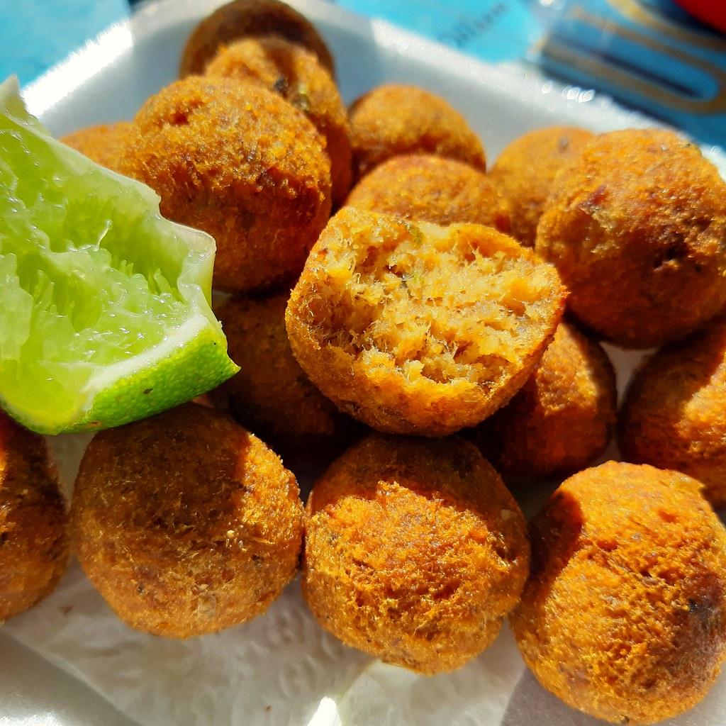 Bolinho de piracuí. Brazilian Amazon fish balls.