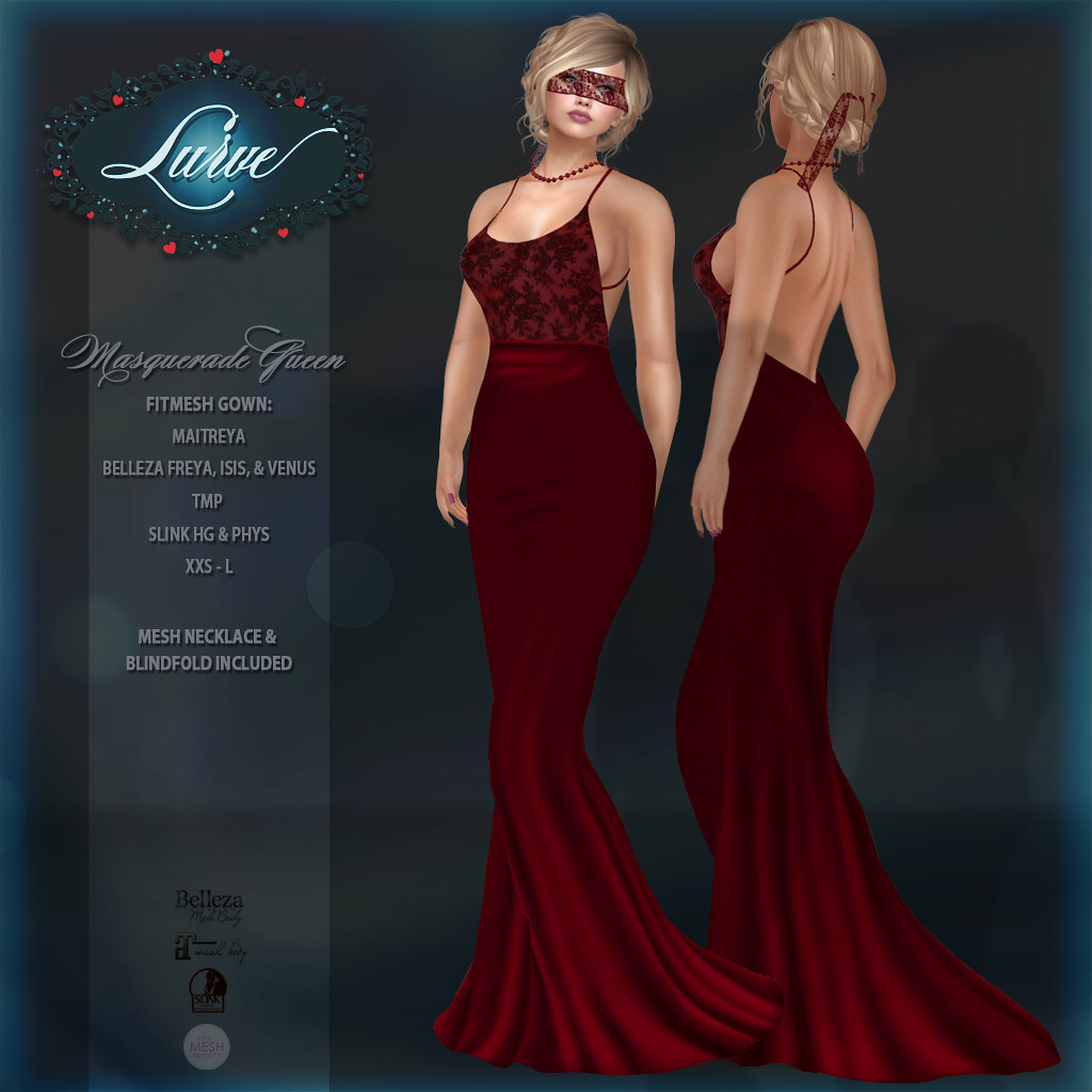 *Lurve* Masquerade Queen Gown in Red