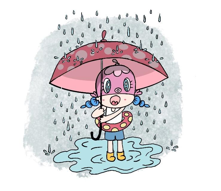 Ally Walking in the Rain