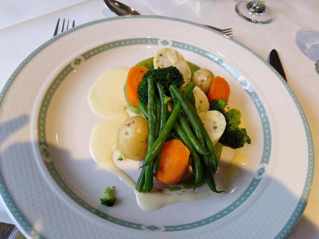 Fillet of Hake wrapped in a herb mousse, Gibbon Bridge Hotel, Chipping