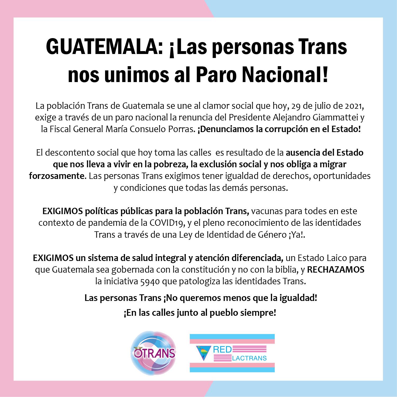Paro Nacional Guatemala 29_07_21