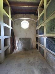 inside the Berney mausoleum