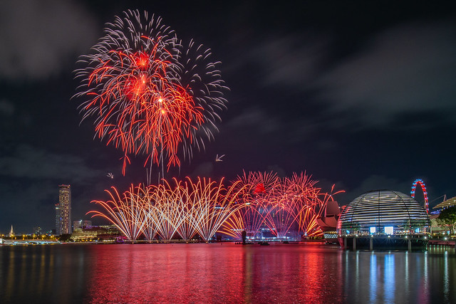 Fireworks at NDP 2021