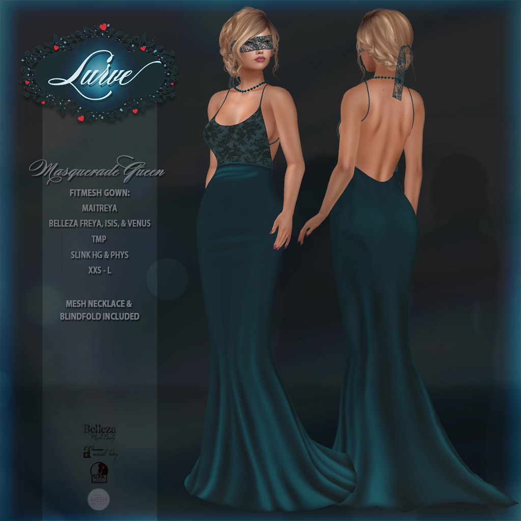 *Lurve* Masquerade Queen Gown in Teal
