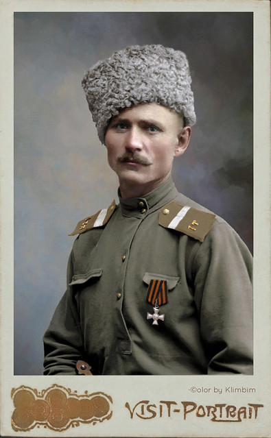 Holder of the Cross of St George. Corporal of the 1st Tersk foot-scout bataillon K. Koloskov, 1914-1917